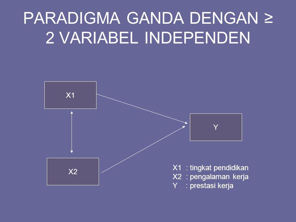 PARADIGMA GANDA DENGAN ≥ 2 VARIABEL INDEPENDEN