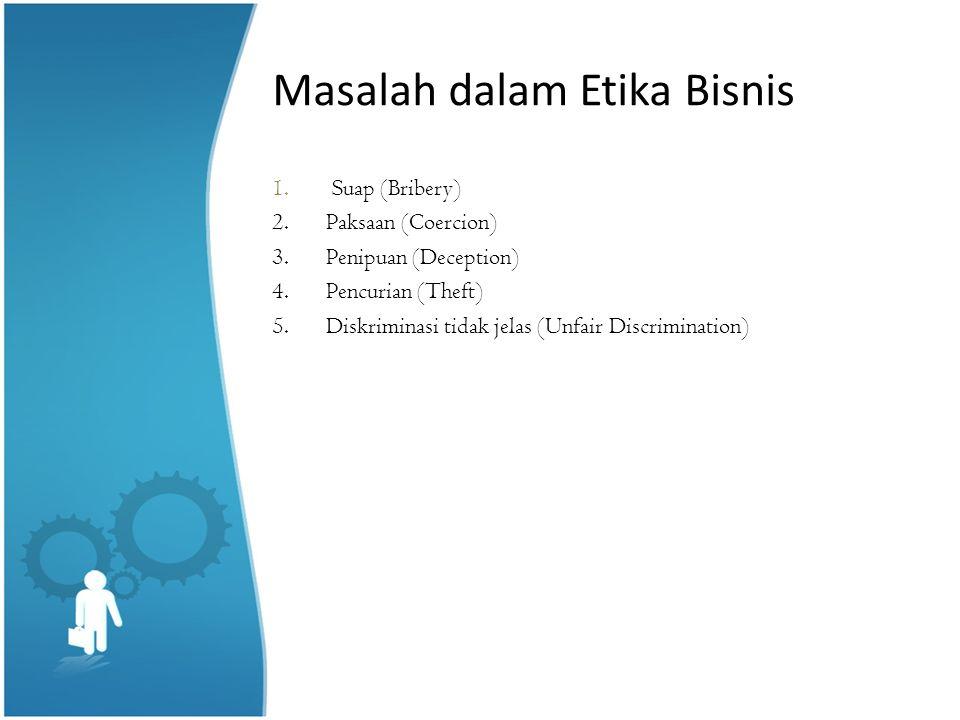 Masalah dalam Etika Bisnis