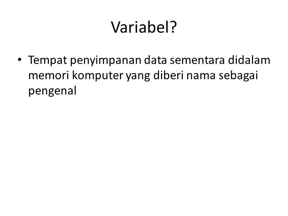 Variabel.