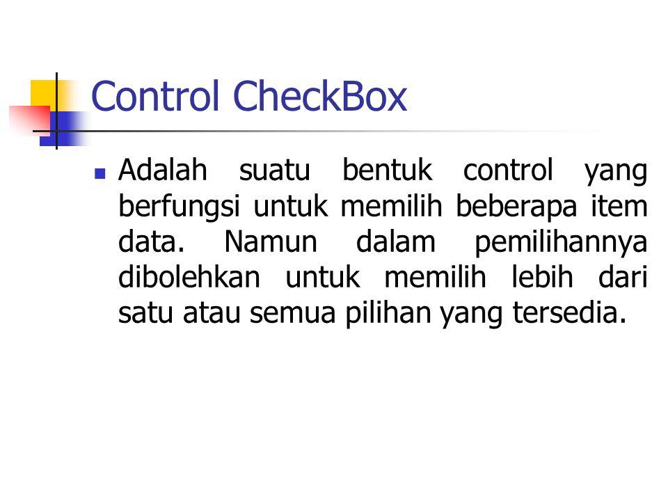 Control CheckBox