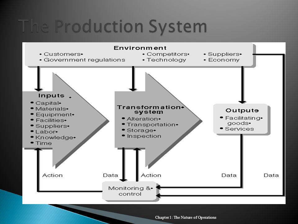 The Production System Chapter 1: The Nature of Operations