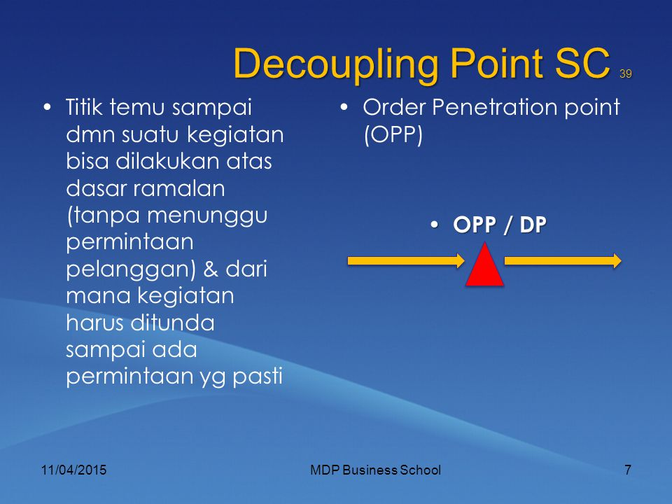 Decoupling Point SC 39
