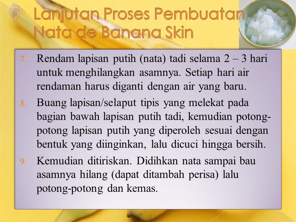 Lanjutan Proses Pembuatan Nata de Banana Skin
