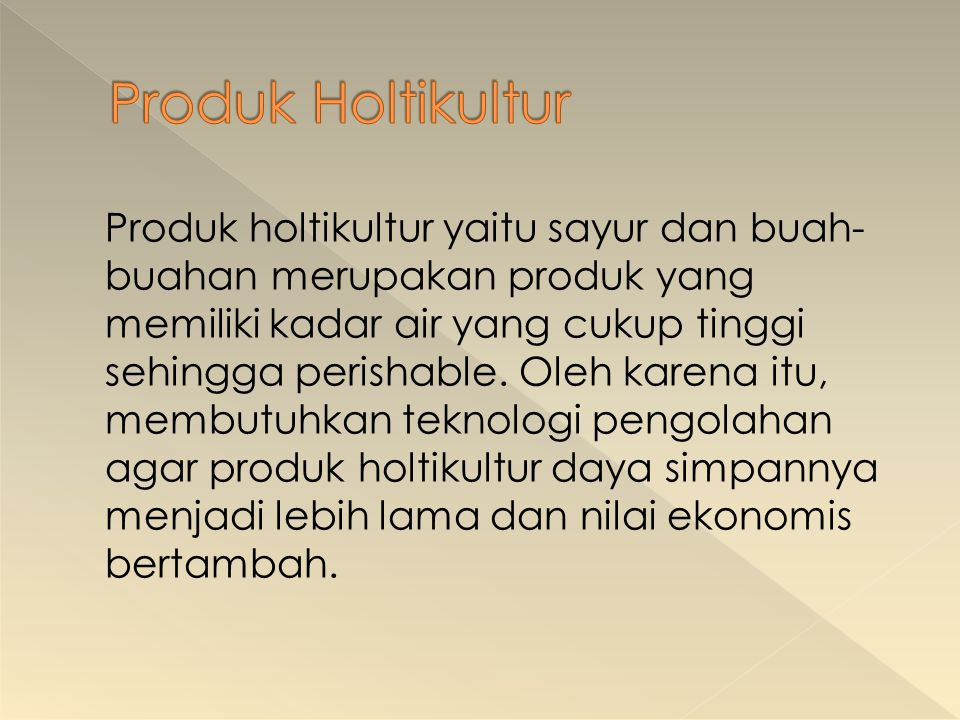 Produk Holtikultur