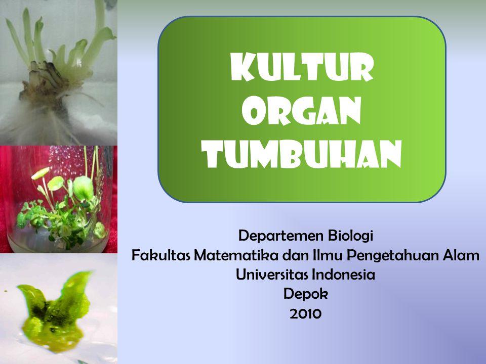 Kultur organ tumbuhan Departemen Biologi