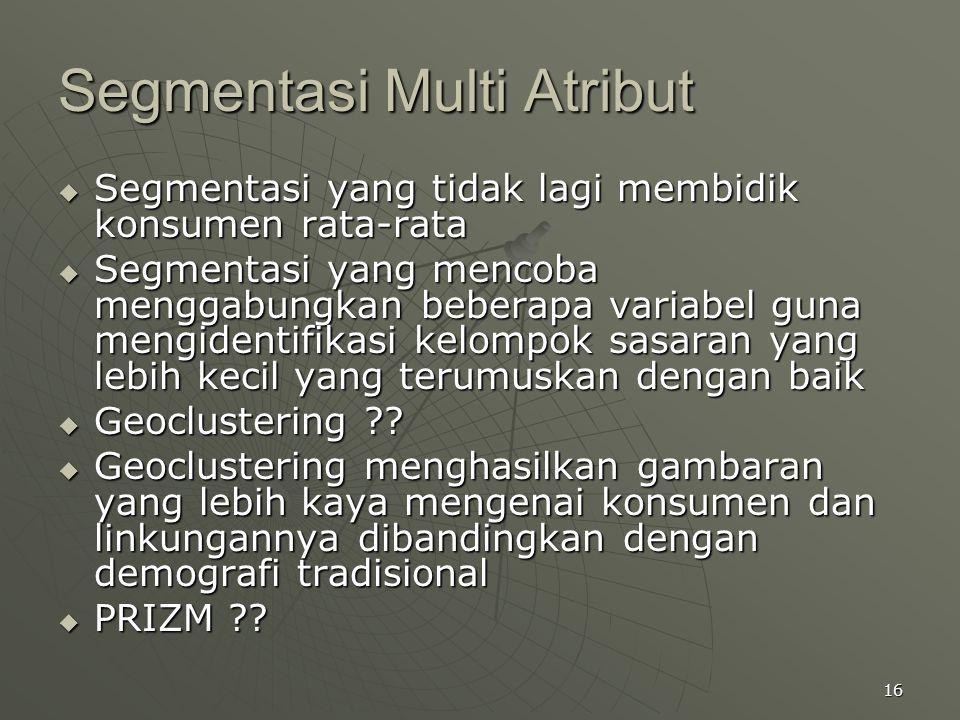 Segmentasi Multi Atribut