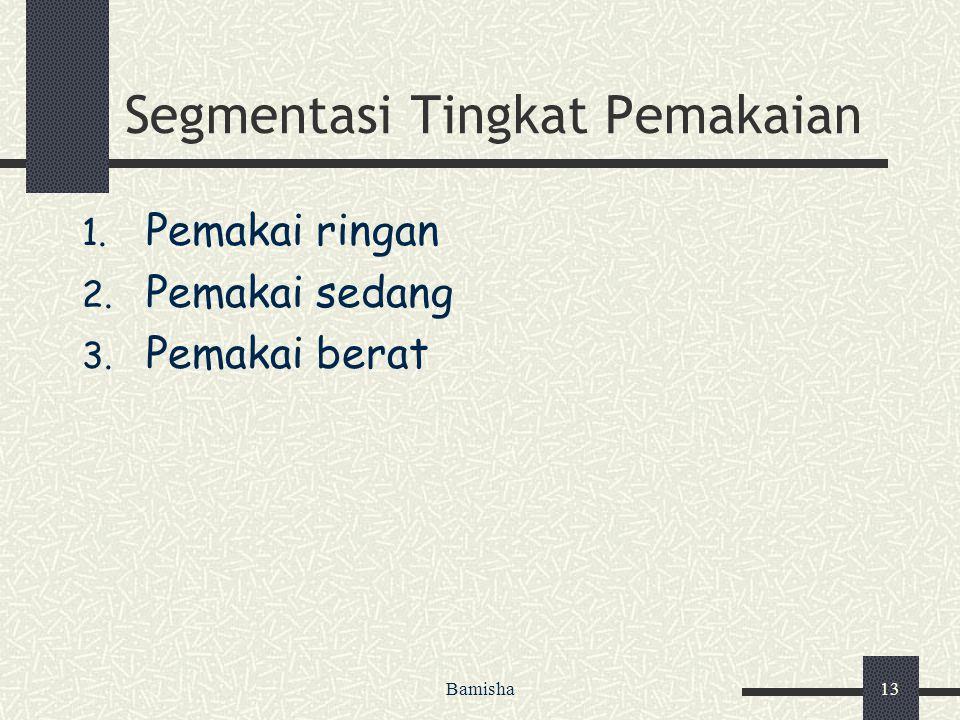 Segmentasi Tingkat Pemakaian
