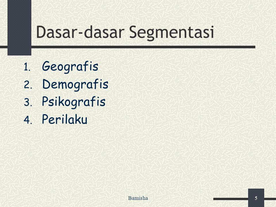 Dasar-dasar Segmentasi