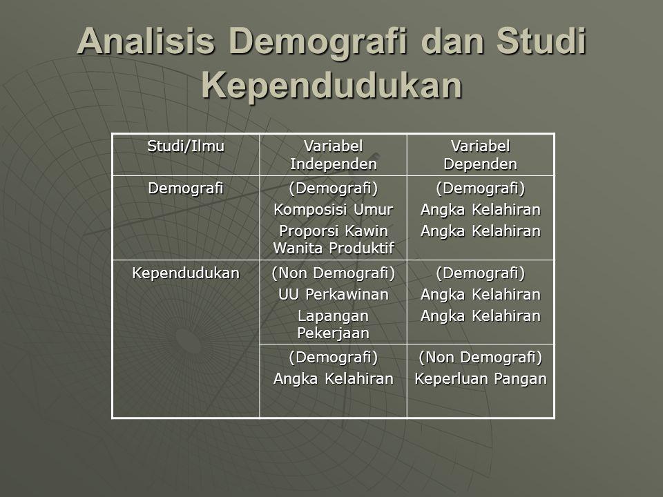Analisis Demografi dan Studi Kependudukan