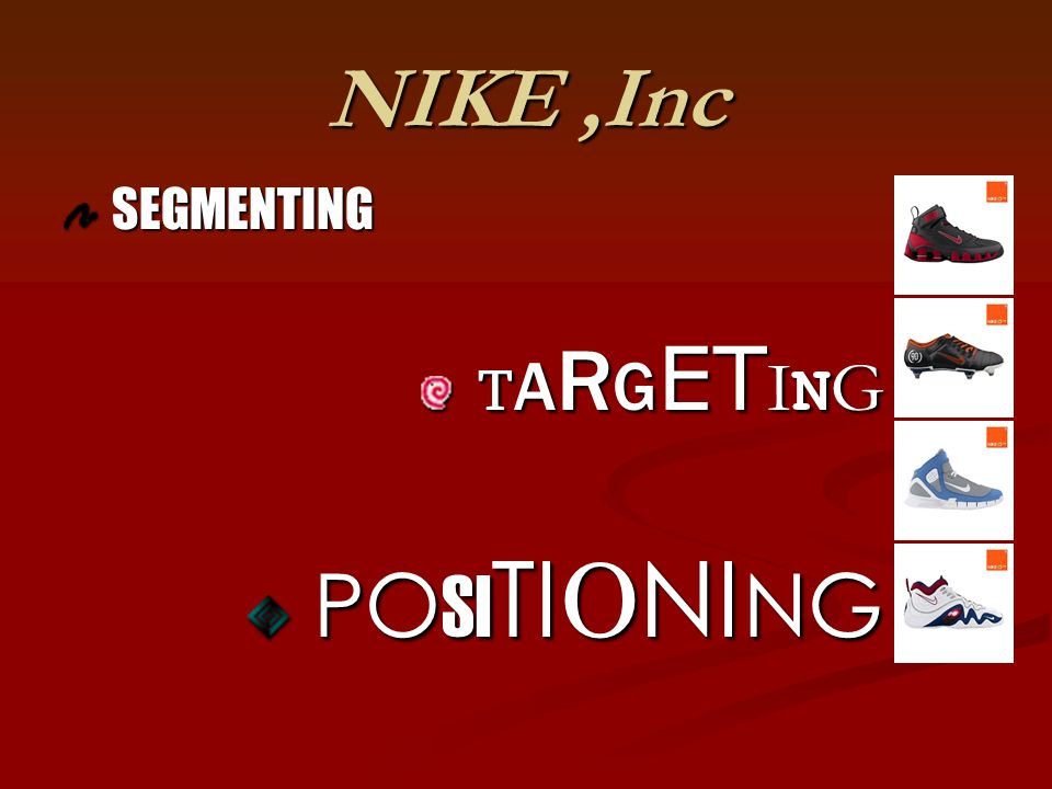 NIKE ,Inc SEGMENTING TARGETING POSITIONING