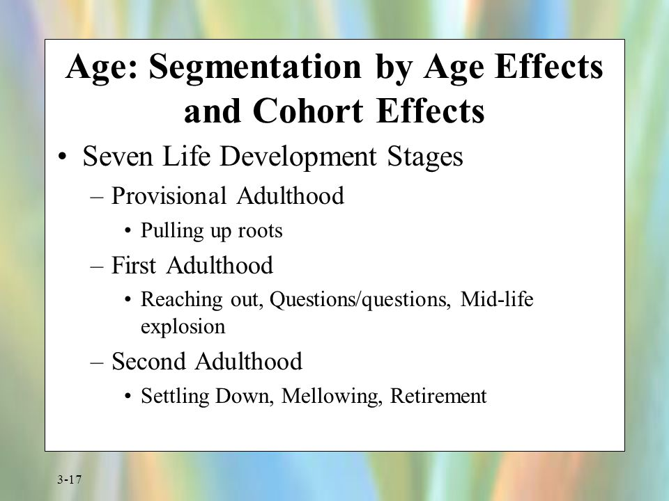 Age: Segmentation by Age Effects and Cohort Effects