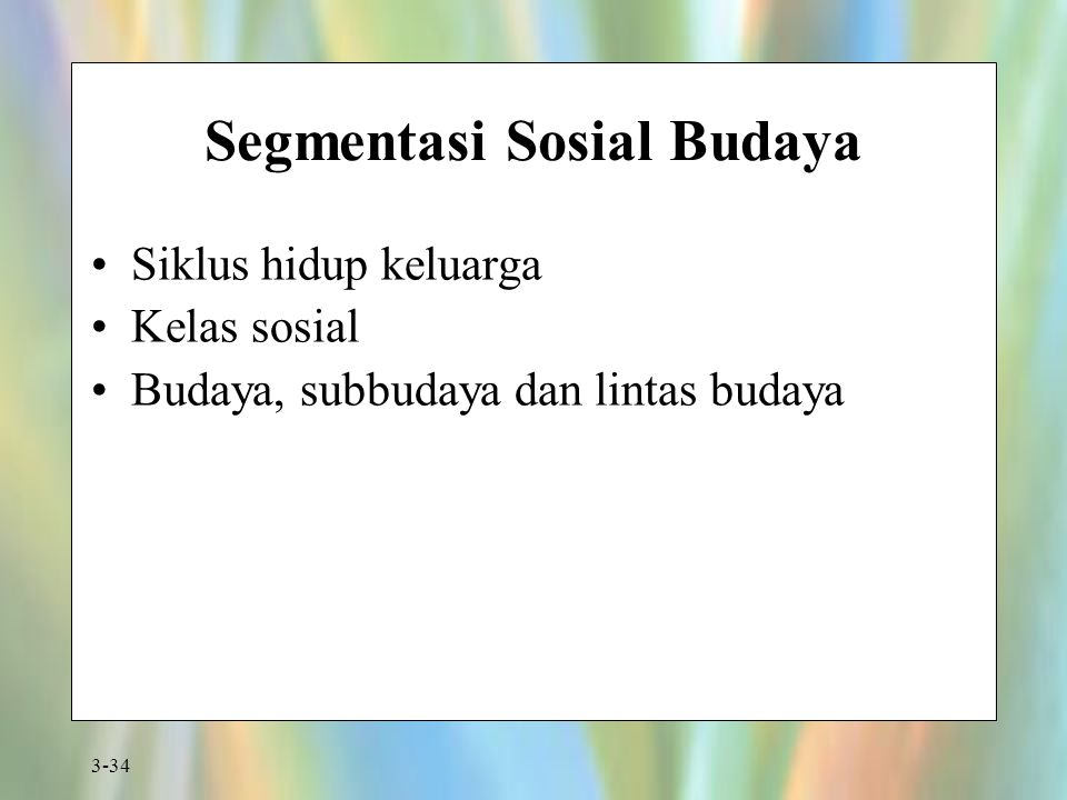 Segmentasi Sosial Budaya