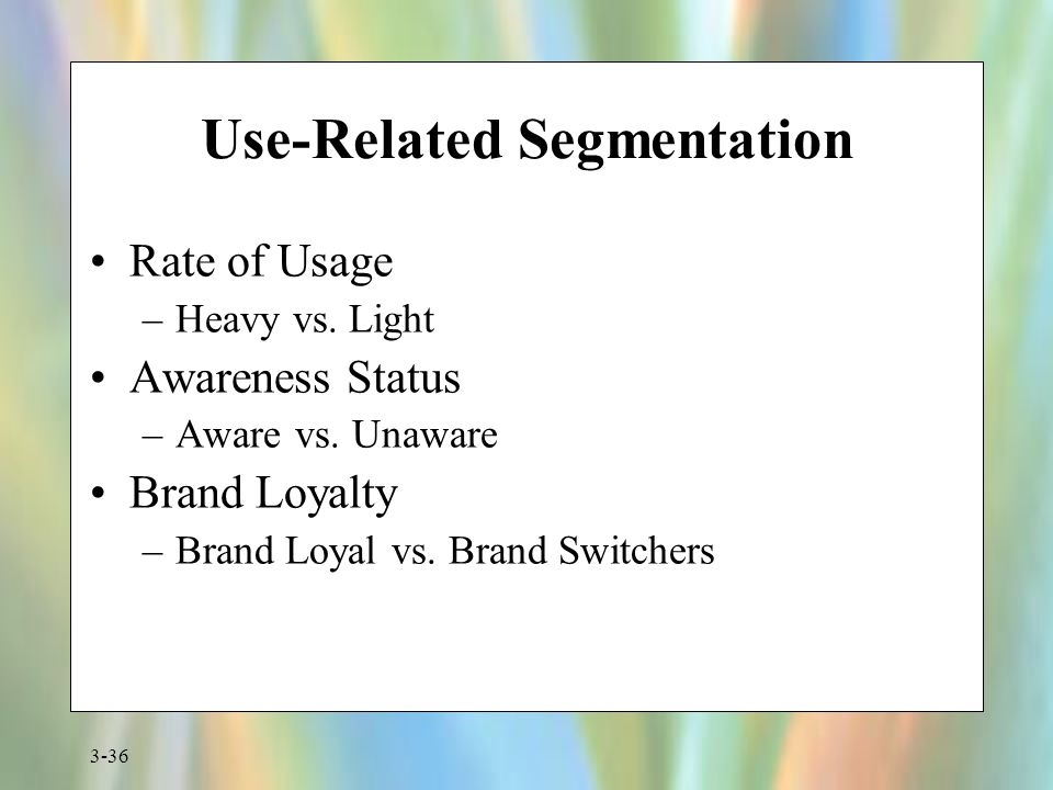 Use-Related Segmentation