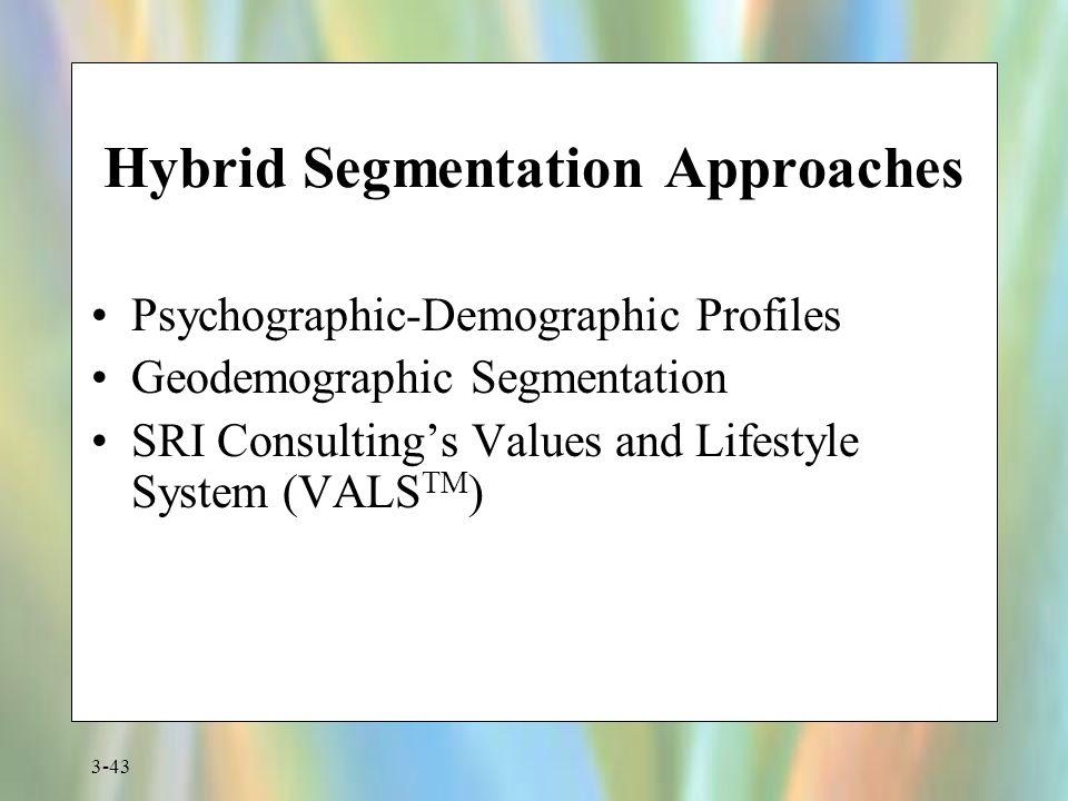Hybrid Segmentation Approaches