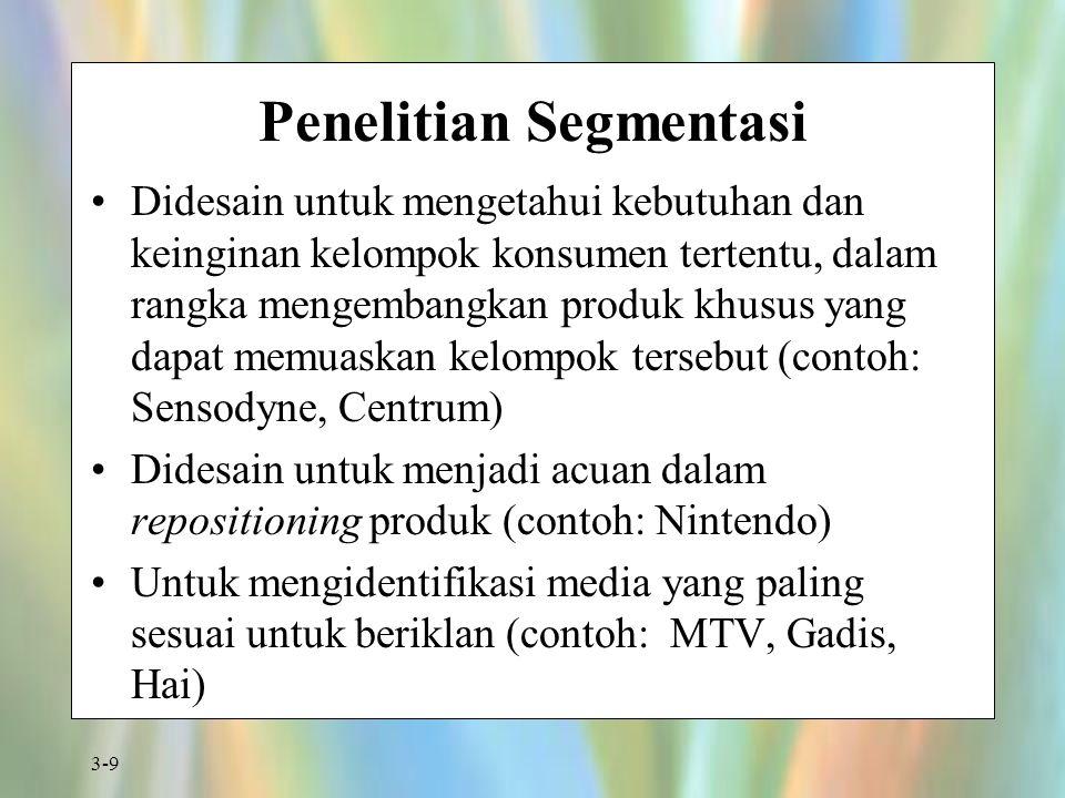 Penelitian Segmentasi