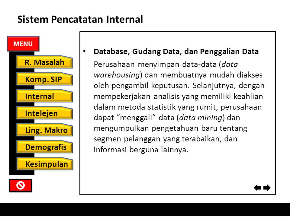 Sistem Pencatatan Internal