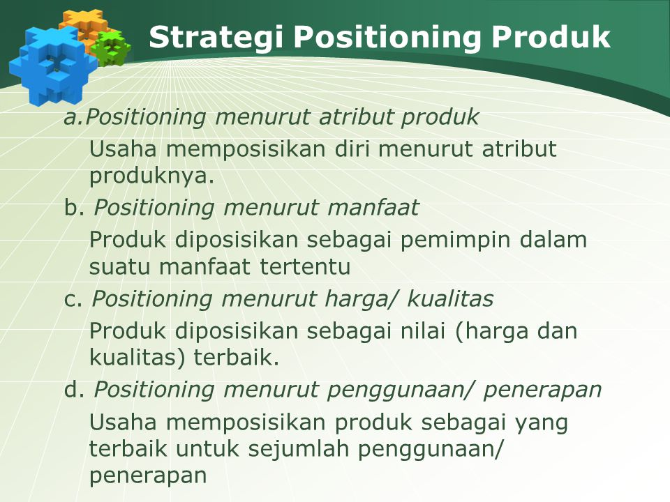 Strategi Positioning Produk