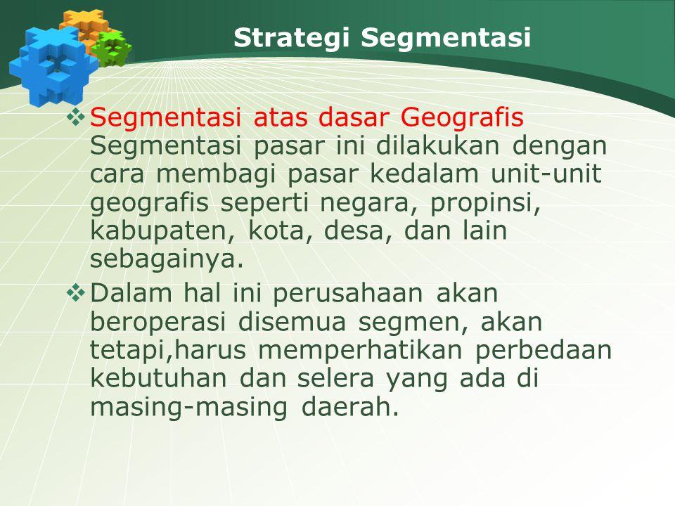 Strategi Segmentasi