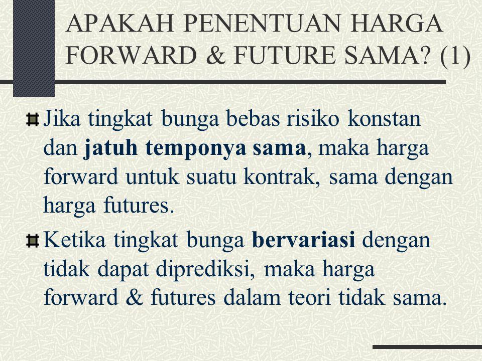 APAKAH PENENTUAN HARGA FORWARD & FUTURE SAMA (1)
