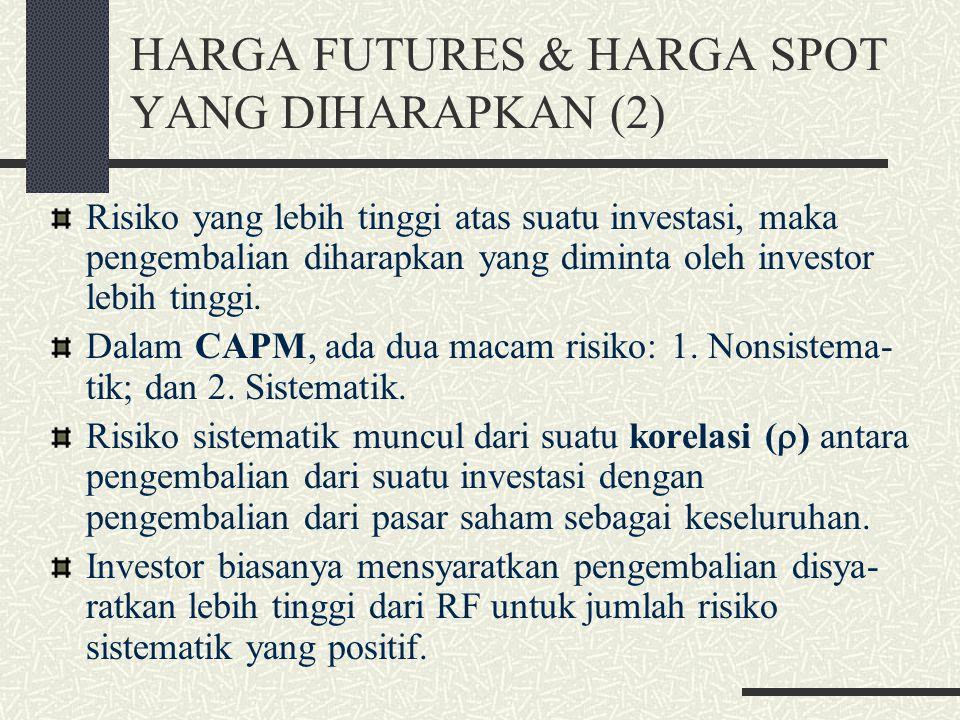 HARGA FUTURES & HARGA SPOT YANG DIHARAPKAN (2)