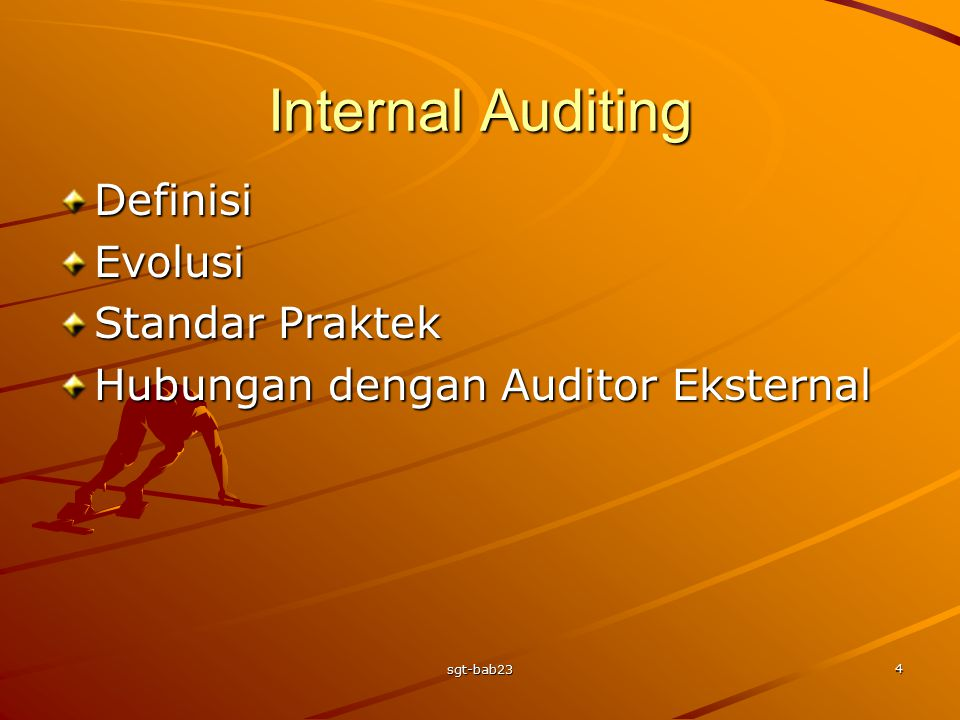 Internal Auditing Definisi Evolusi Standar Praktek