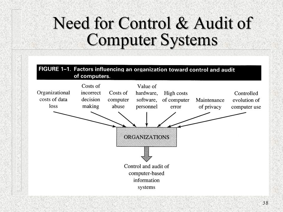 Need for Control & Audit of Computer Systems