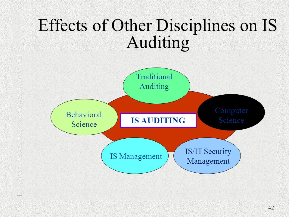 Effects of Other Disciplines on IS Auditing