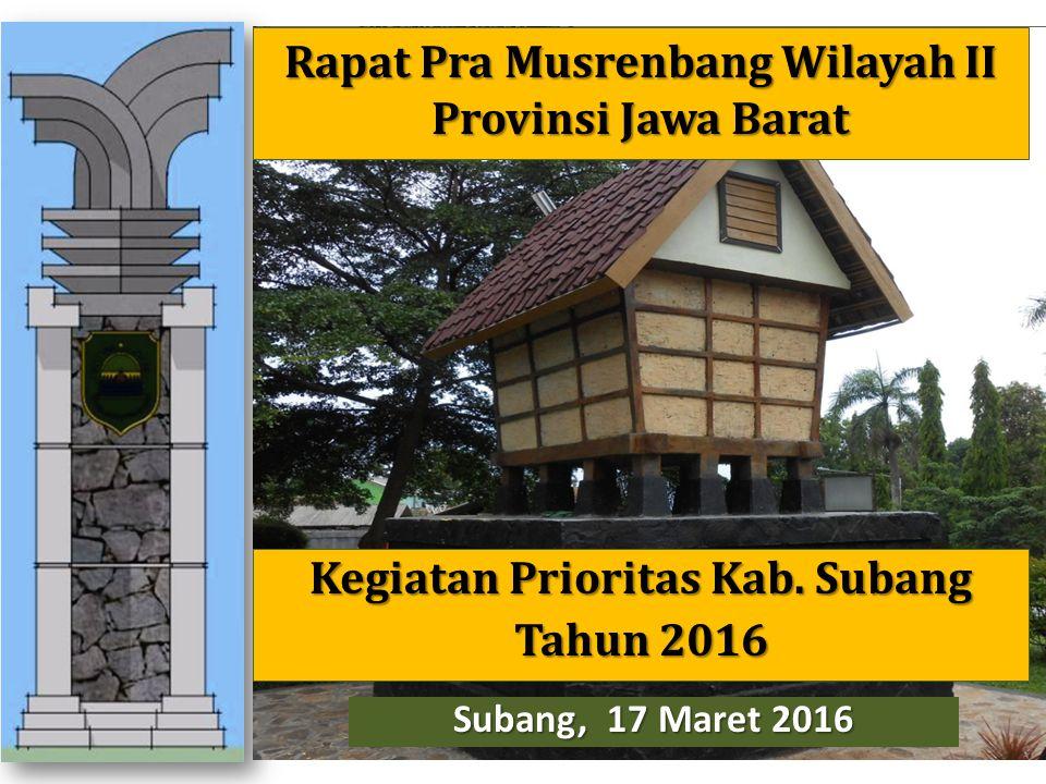 Rapat Pra Musrenbang Wilayah II Provinsi Jawa Barat