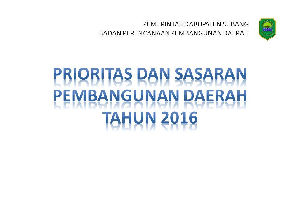 Prioritas dan sasaran pembangunan daerah tahun 2016