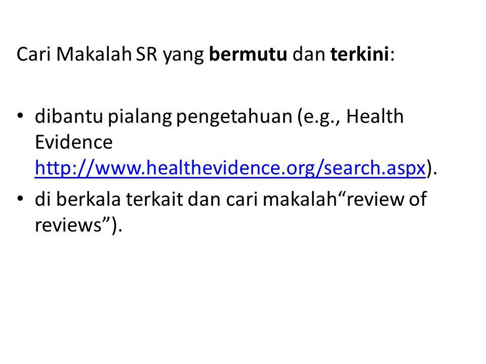Cari Makalah SR yang bermutu dan terkini: