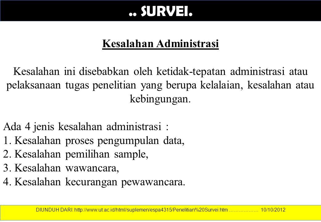 Kesalahan Administrasi