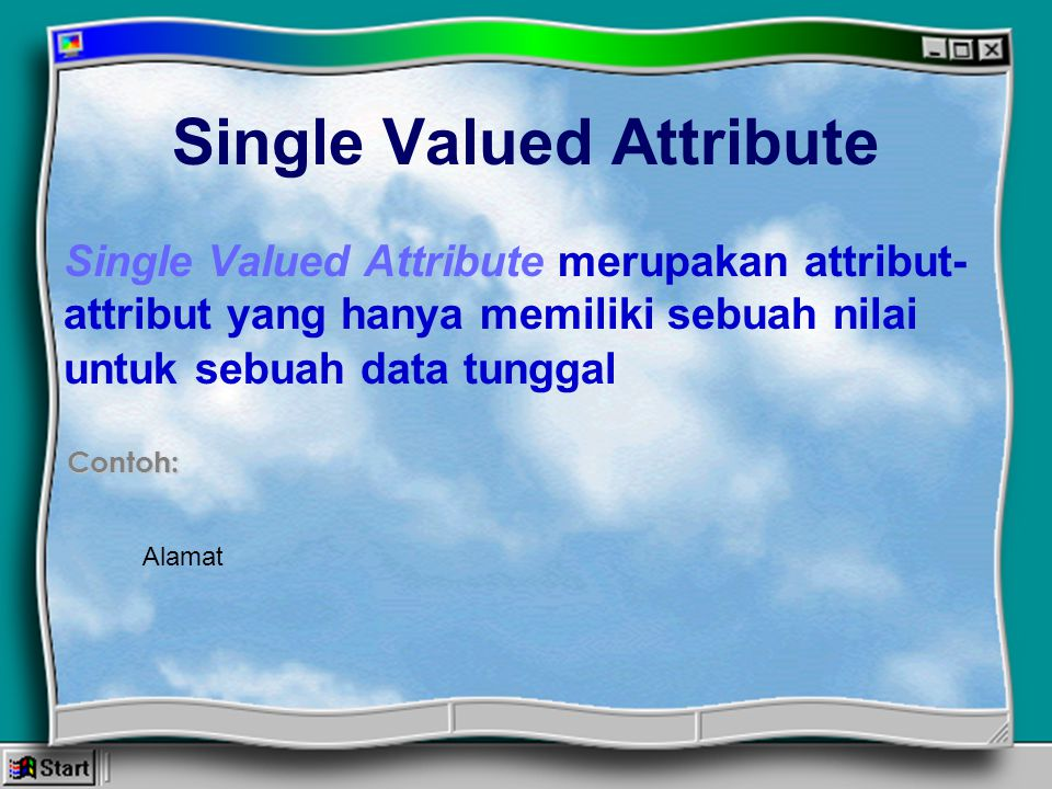 Single Valued Attribute