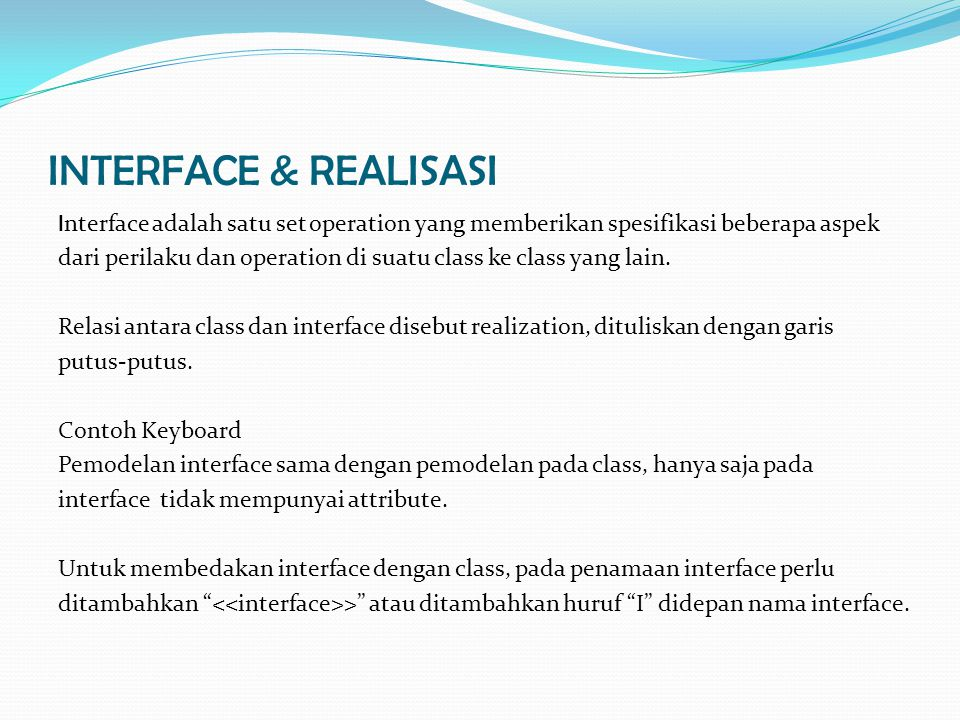 INTERFACE & REALISASI