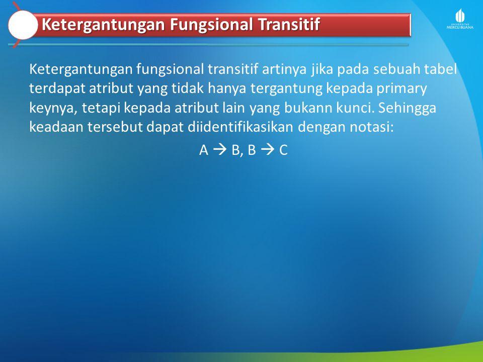 Ketergantungan Fungsional Transitif