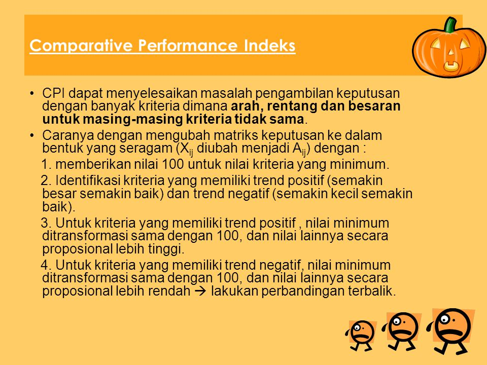 Comparative Performance Indeks
