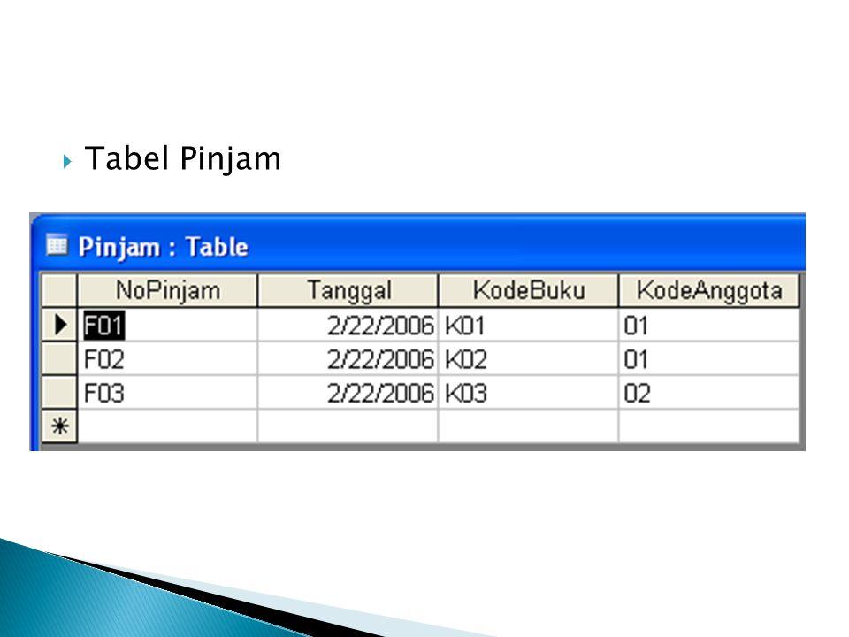 Tabel Pinjam