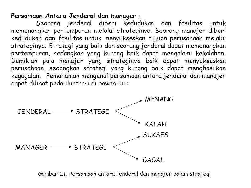 Persamaan Antara Jenderal dan manager :
