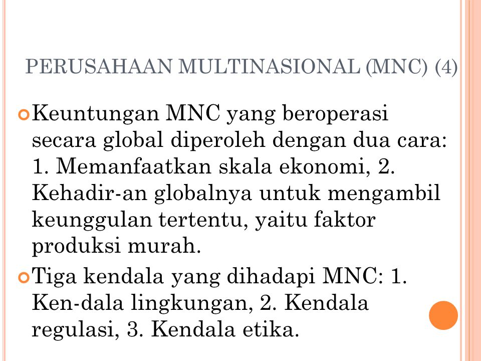 PERUSAHAAN MULTINASIONAL (MNC) (4)