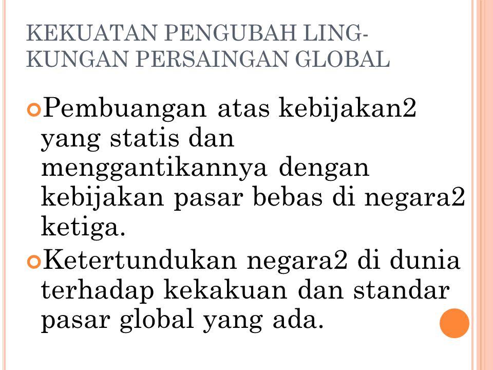 KEKUATAN PENGUBAH LING-KUNGAN PERSAINGAN GLOBAL
