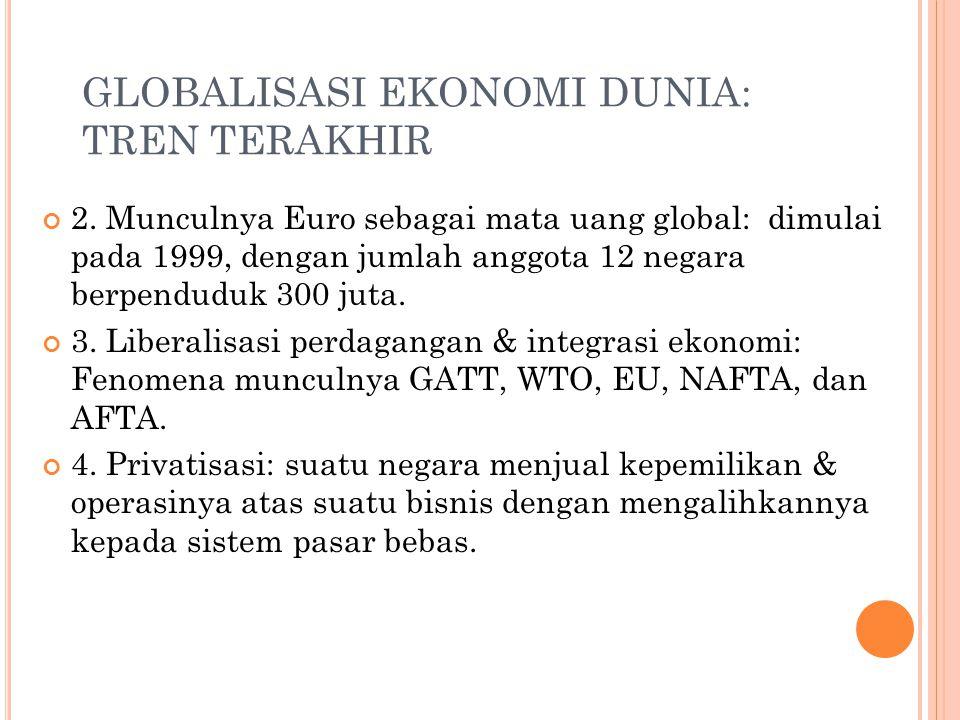 GLOBALISASI EKONOMI DUNIA: TREN TERAKHIR