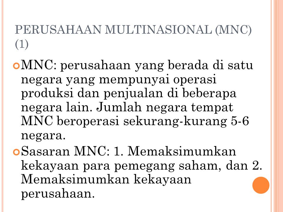 PERUSAHAAN MULTINASIONAL (MNC) (1)