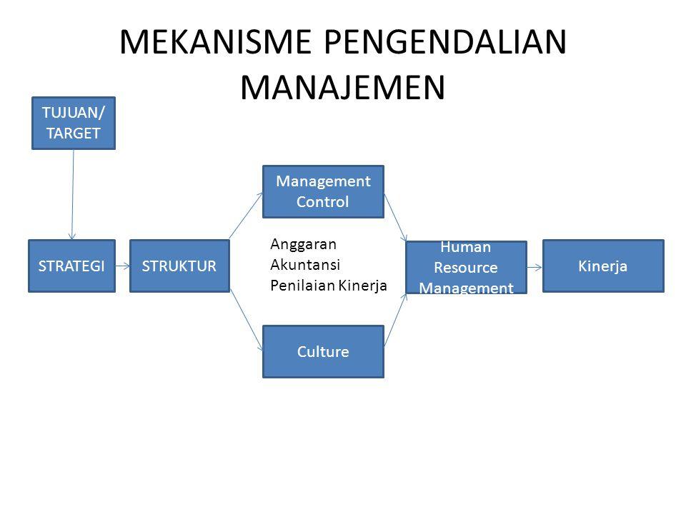 MEKANISME PENGENDALIAN MANAJEMEN