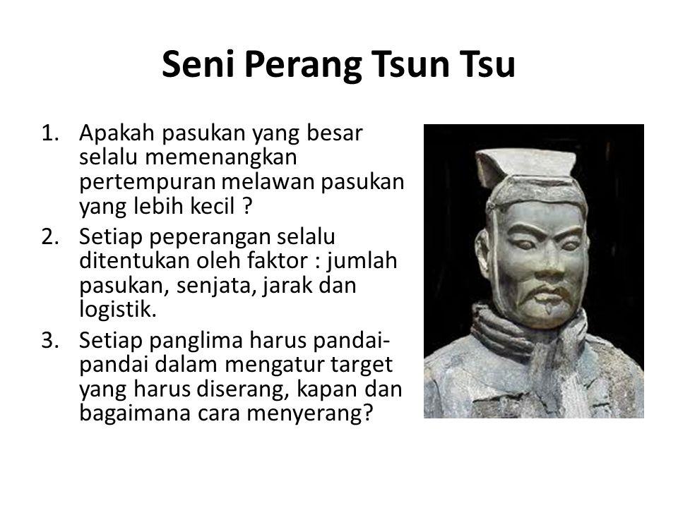 Seni Perang Tsun Tsu Apakah pasukan yang besar selalu memenangkan pertempuran melawan pasukan yang lebih kecil