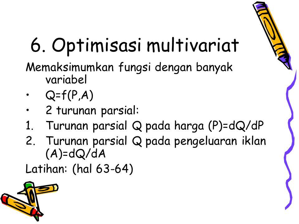 6. Optimisasi multivariat