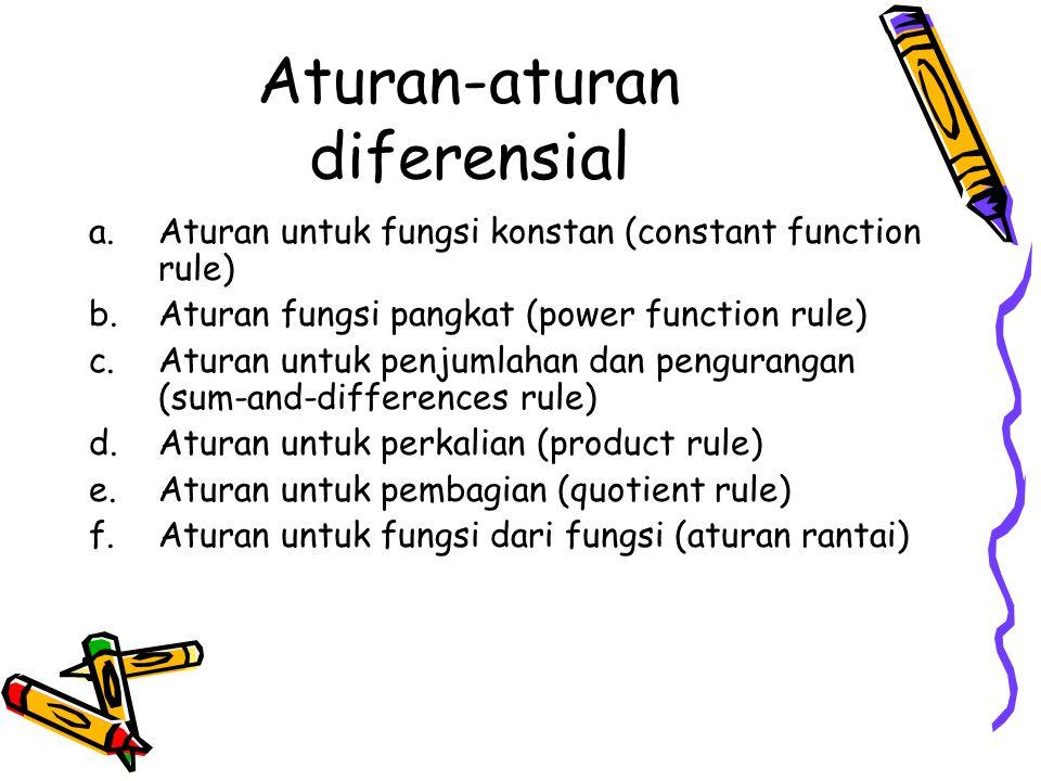 Aturan-aturan diferensial