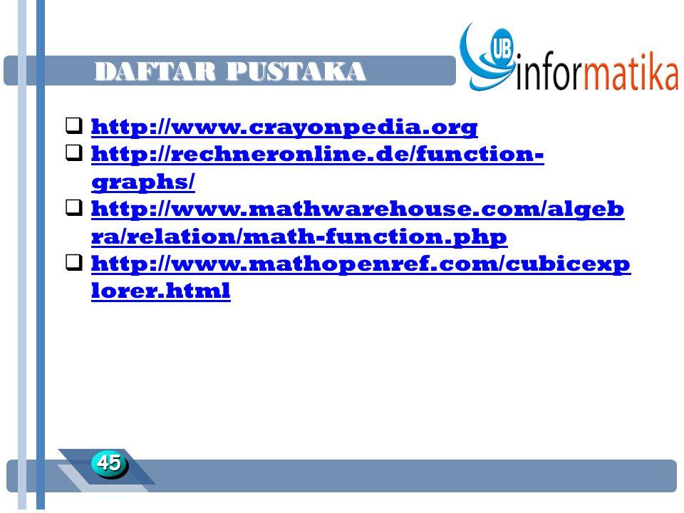 DAFTAR PUSTAKA http://www.crayonpedia.org