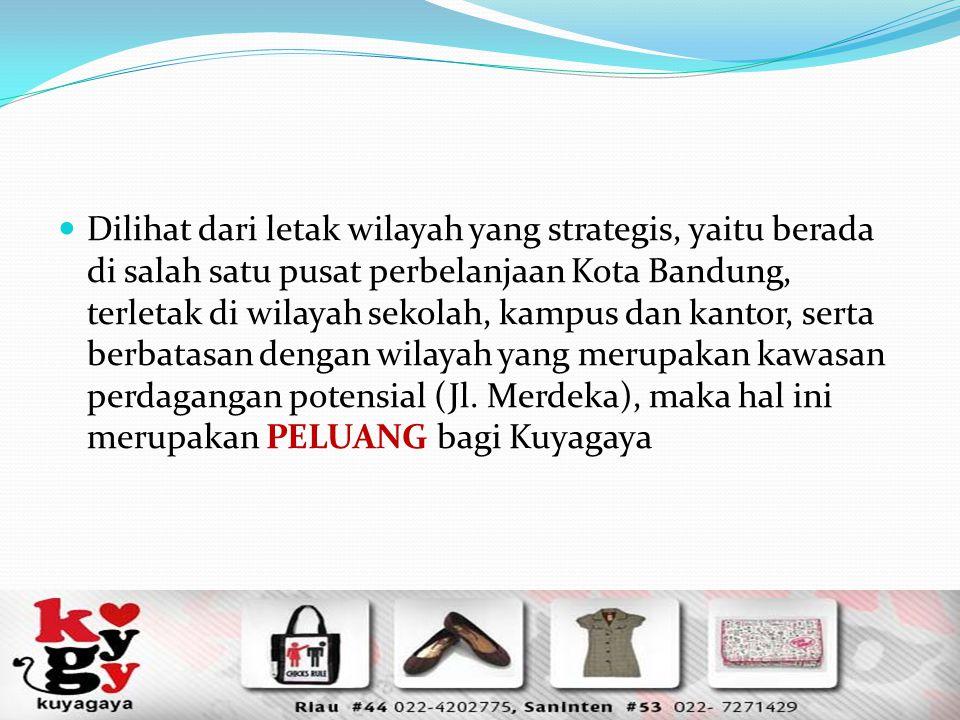 Dilihat dari letak wilayah yang strategis, yaitu berada di salah satu pusat perbelanjaan Kota Bandung, terletak di wilayah sekolah, kampus dan kantor, serta berbatasan dengan wilayah yang merupakan kawasan perdagangan potensial (Jl.