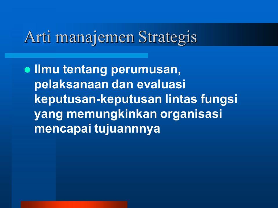 Arti manajemen Strategis
