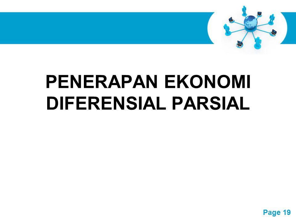 PENERAPAN EKONOMI DIFERENSIAL PARSIAL