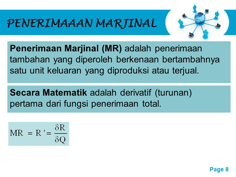 PENERIMAAAN MARJINAL